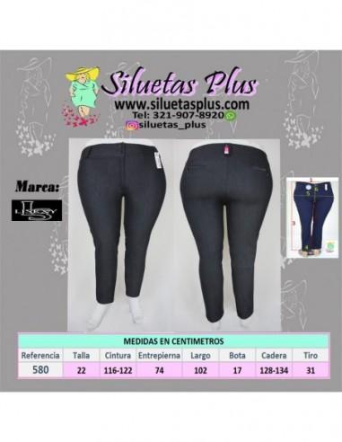Pantalon Talla Grande Gordita 22 Azul Oscuro En Tela Lisexy R0580