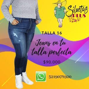 Jeans en tallas grandes @siluetas_plus  #tallasgrandes #ropaparagorditas #ropaparadamas