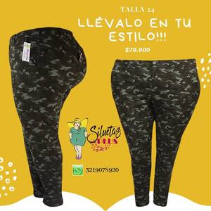 #pantalones #camuflados en #tallasgrandes encuéntralos en https://siluetasplus.com/pantalones-casuales/752-752-pantalon-talla-grande-gordita-24-tipo-camuflado-cremallera-y-boton-lane-bryant-r0679.html#/2-talla-24